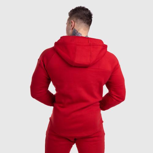 Fitness mikina so zipsom Iron Aesthetics ROUND, červená