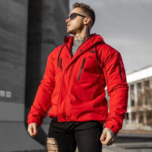 Pánska Softshellová bunda Iron Aesthetics, červená