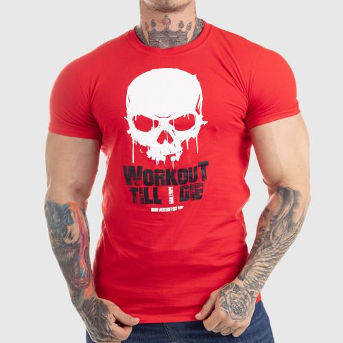 Ultrasoft tričko Workout Till I Die, červené