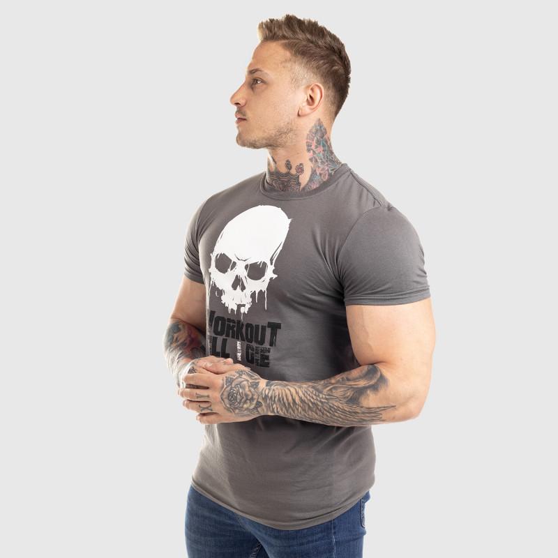 Ultrasoft tričko Workout Till I Die, sivé-4