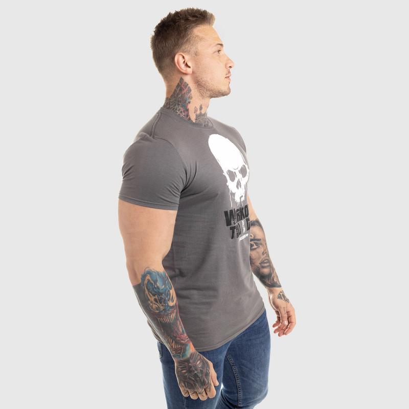 Ultrasoft tričko Workout Till I Die, sivé-5