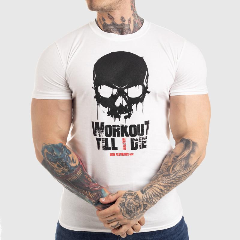 Ultrasoft tričko Workout Till I Die, biele-1