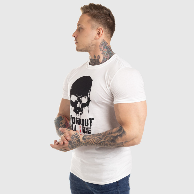 Ultrasoft tričko Workout Till I Die, biele-9
