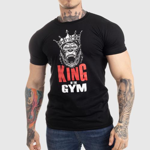 Ultrasoft tričko Iron Aesthetics King of the Gym, čierne