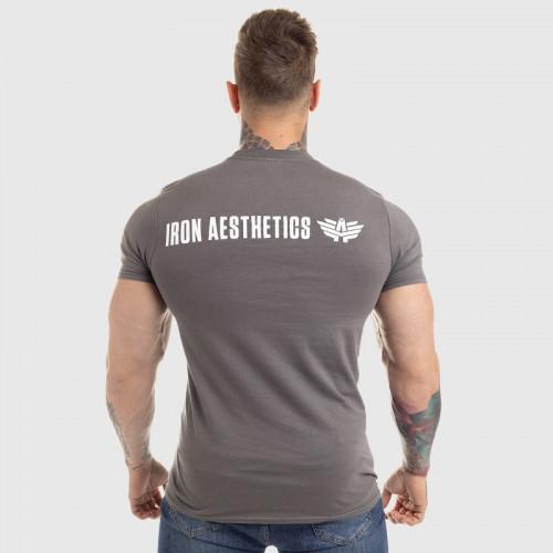Ultrasoft tričko Iron Aesthetics King of the Gym, sivé