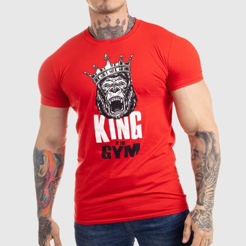 Ultrasoft tričko Iron Aesthetics King of the Gym, červené