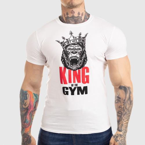 Ultrasoft tričko Iron Aesthetics King of the Gym, biele