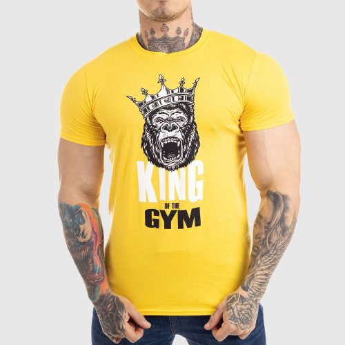 Ultrasoft tričko Iron Aesthetics King of the Gym, žlté