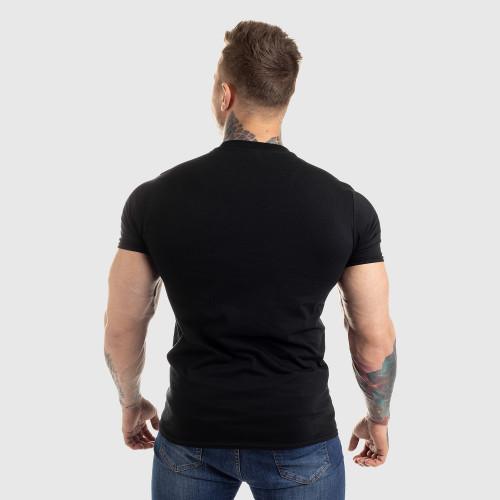 Pánske fitness tričko Iron Aesthetics Circle Star, čierne