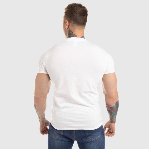 Pánske fitness tričko Iron Aesthetics Circle Star, biele