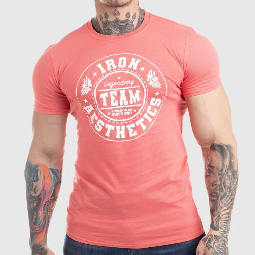 Pánske fitness tričko Iron Aesthetics Circle Star, ružové