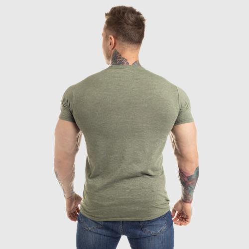 Pánske fitness tričko Iron Aesthetics Circle Star, vojenská zelená