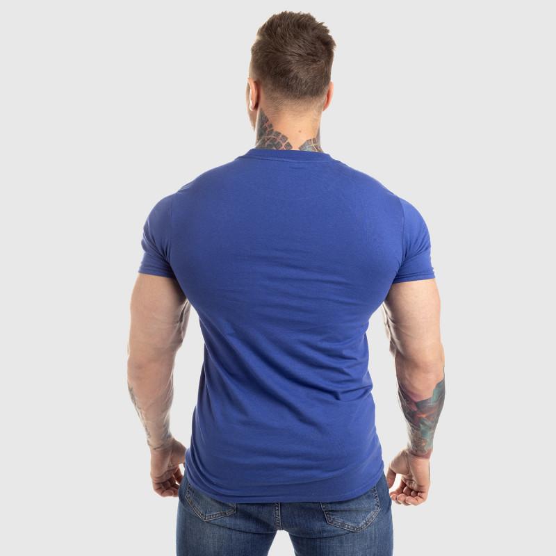 Pánske fitness tričko Iron Aesthetics Circle Star, modré-2