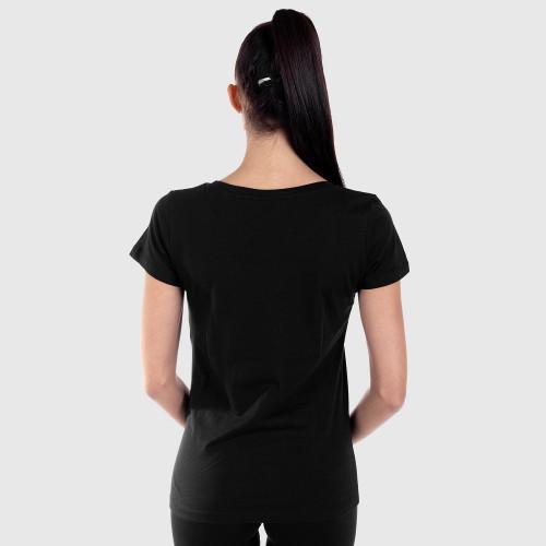 Dámske fitness tričko Iron Aesthetics Light Dots, čierne