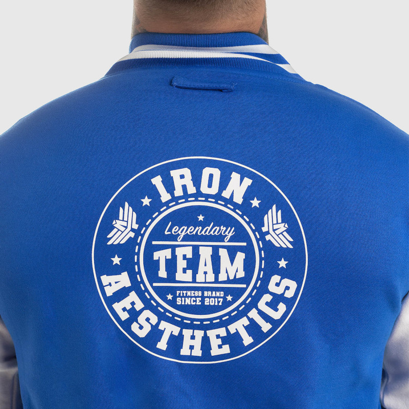 Bunda Iron Aesthetics Varsity Star, modrá-14