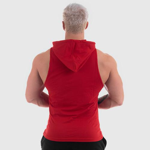 Pánske fitness TIELKO S KAPUCŇOU Iron Aesthetics Circle Star, červené
