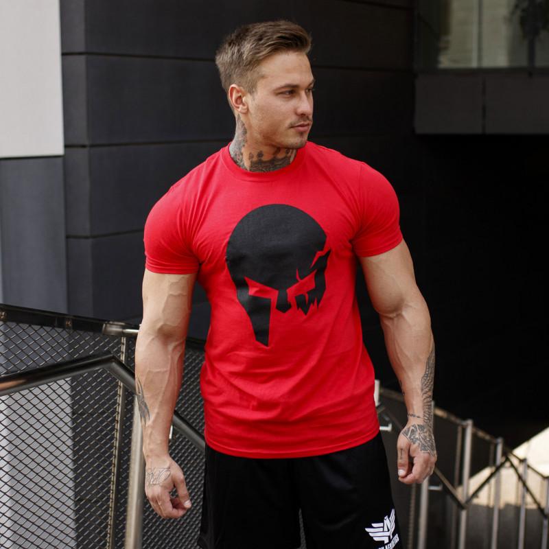 Ultrasoft tričko Iron Aesthetics Skull, červené-4