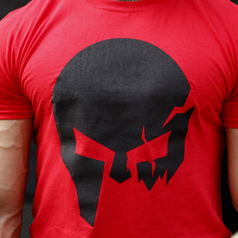 Ultrasoft tričko Iron Aesthetics Skull, červené-5