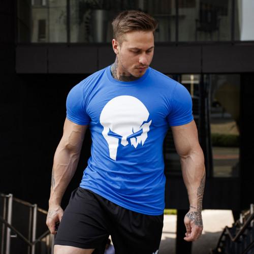 Ultrasoft tričko Iron Aesthetics Skull, modré