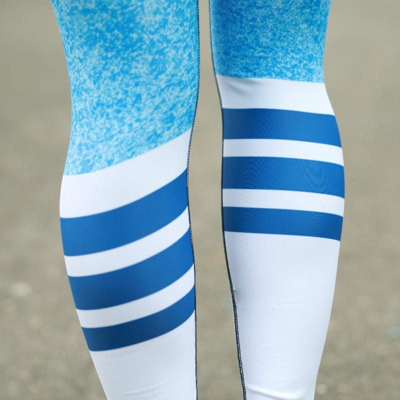 Dámske legíny Stripes - Iron Aesthetics, modré-5