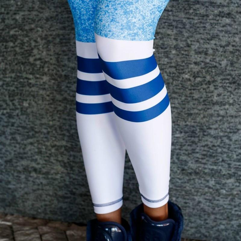 Dámske legíny Stripes - Iron Aesthetics, modré-3