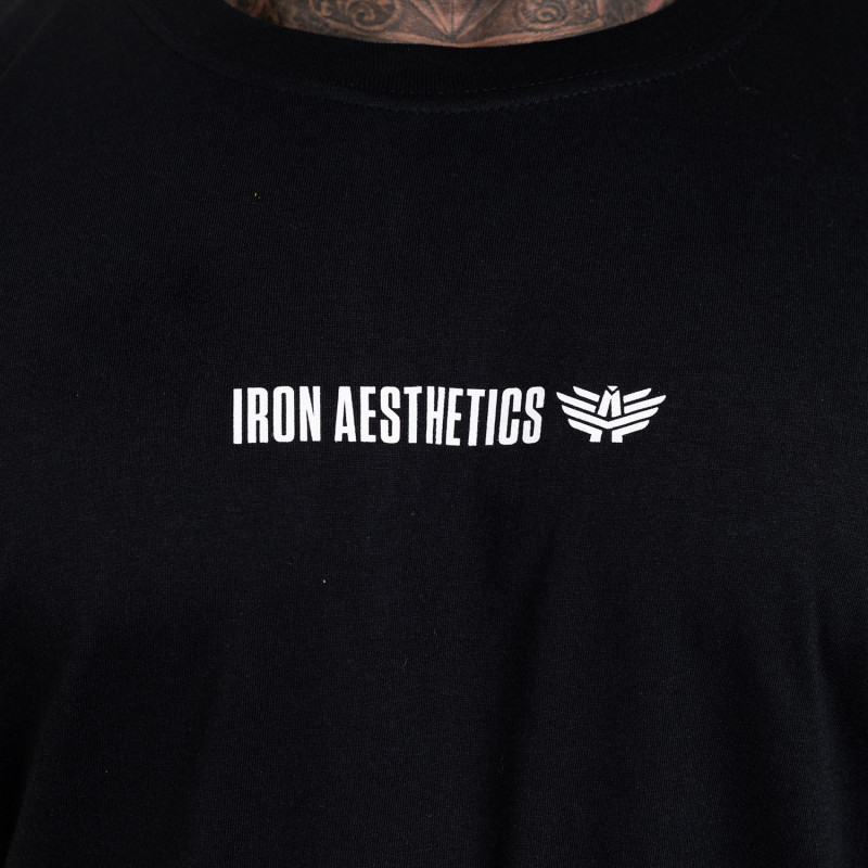Ultrasoft tričko Iron Aesthetics STRONGMAN, čierne-6