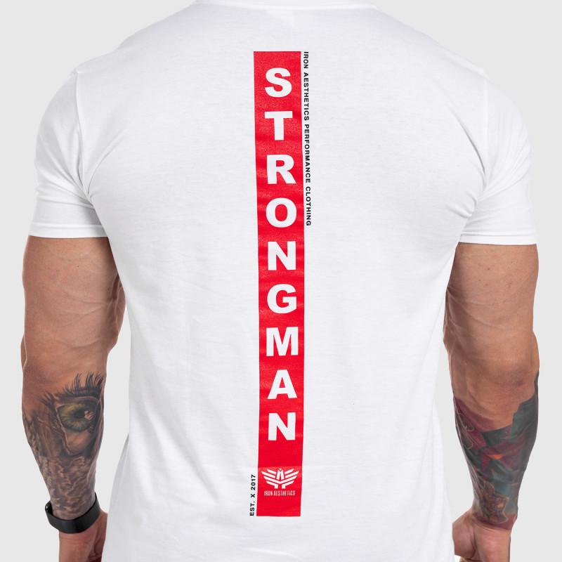 Ultrasoft tričko Iron Aesthetics STRONGMAN, biele-9
