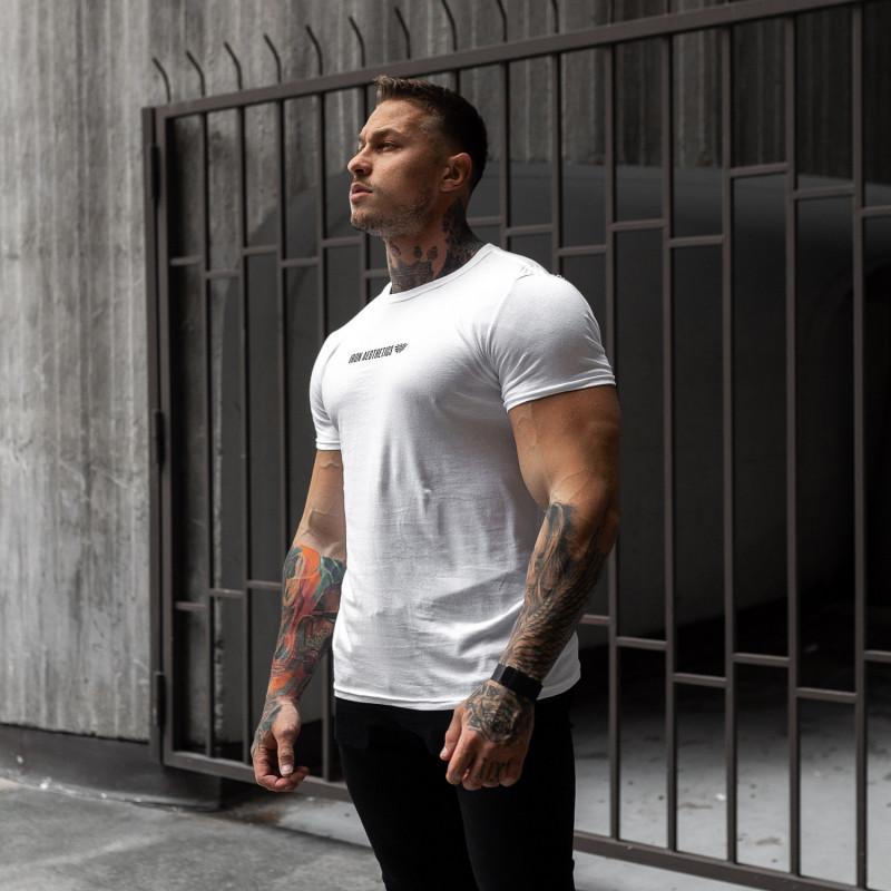 Ultrasoft tričko Iron Aesthetics STRONGMAN, biele-3
