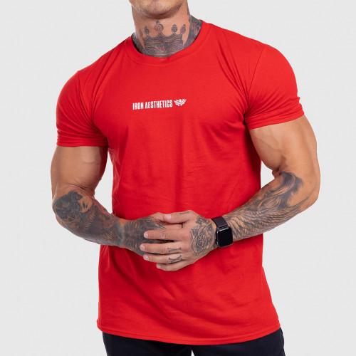 Ultrasoft tričko Iron Aesthetics STRONGMAN, červené