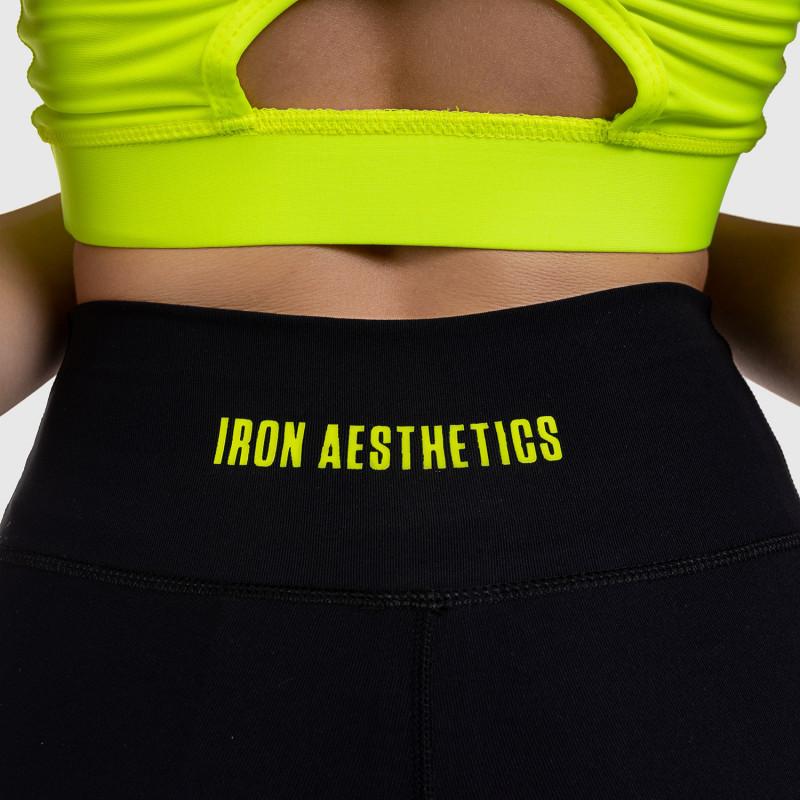 Dámske legíny NET Stripes - Iron Aesthetics, NEON GREEN-5