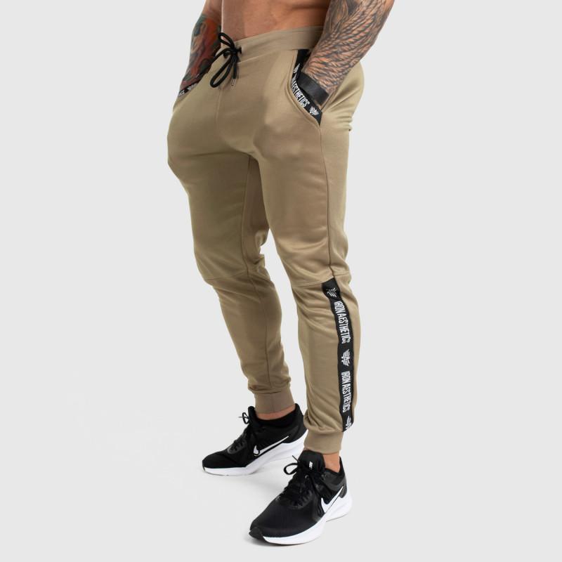 Jogger tepláky Iron Aesthetics Partial, béžové-1