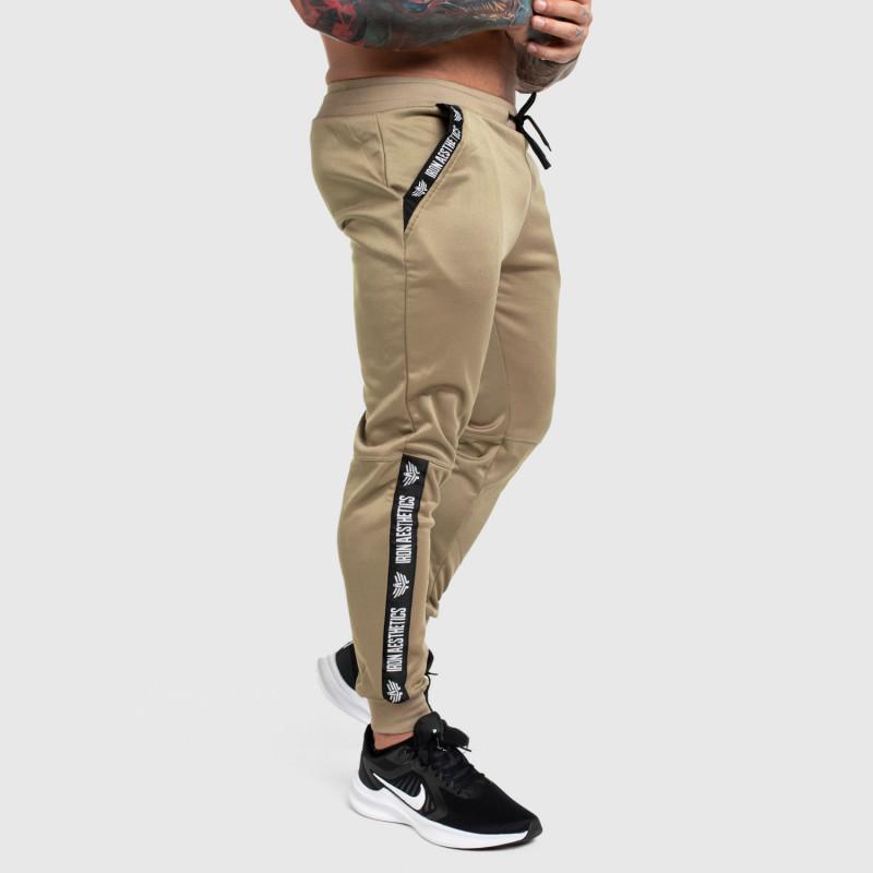Jogger tepláky Iron Aesthetics Partial, béžové-3