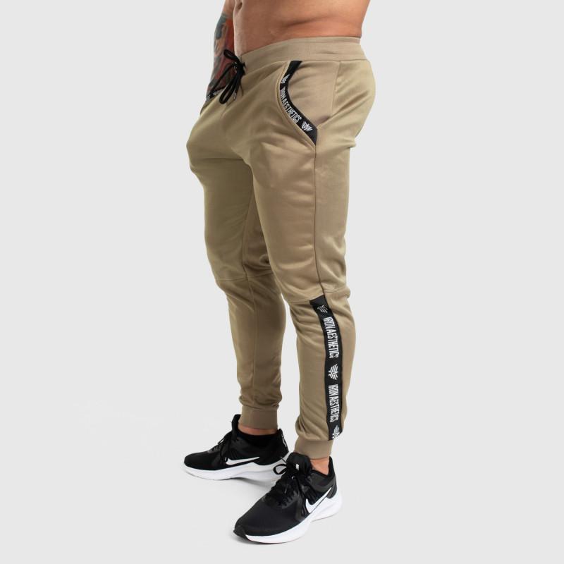 Jogger tepláky Iron Aesthetics Partial, béžové-4