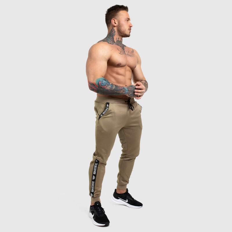 Jogger tepláky Iron Aesthetics Partial, béžové-5