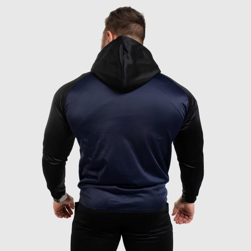 Fitness mikina so zipsom Iron Aesthetics SLEEVE, modrá-2