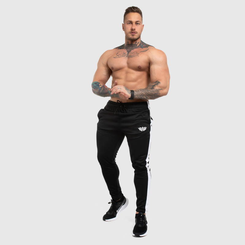 Jogger tepláky Iron Aesthetics Sport Track, čierne-4