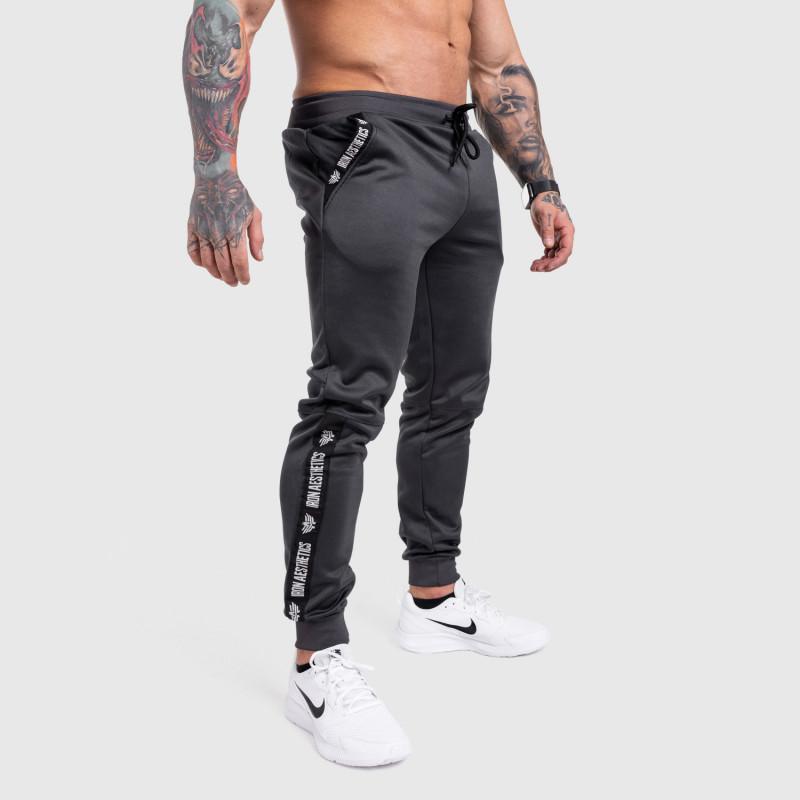 Jogger tepláky Iron Aesthetics Partial, sivé-4