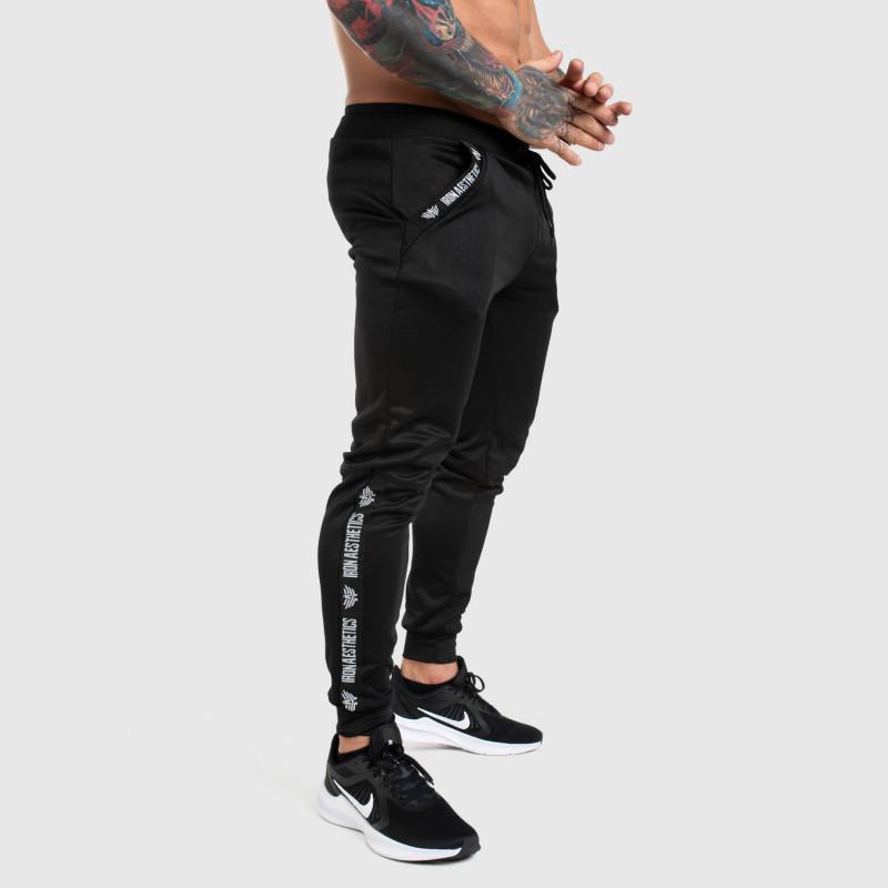 Jogger tepláky Iron Aesthetics Partial, čierne-1