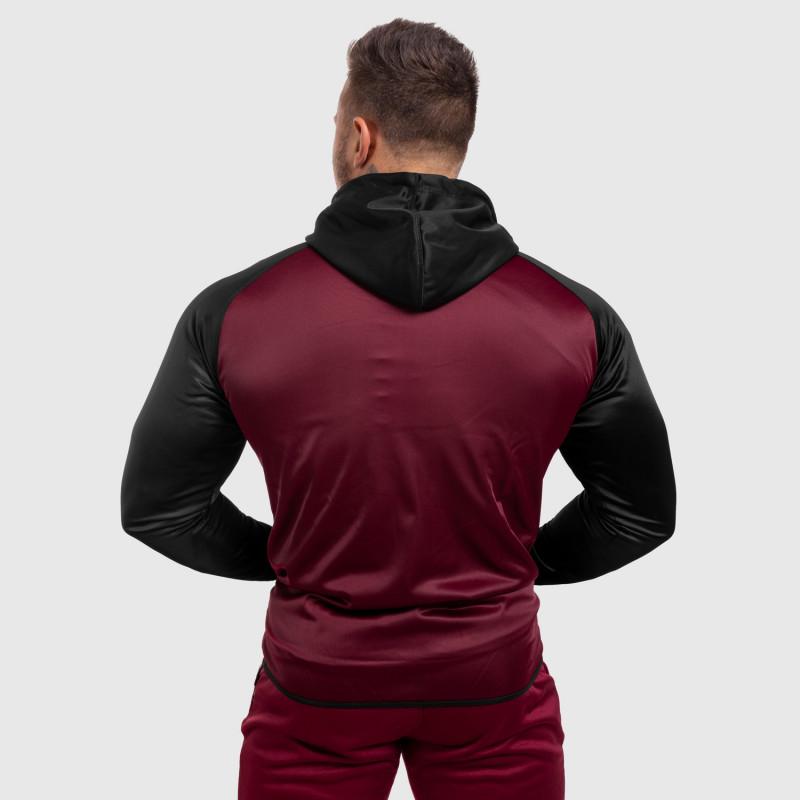 Fitness mikina so zipsom Iron Aesthetics SLEEVE, bordová-2