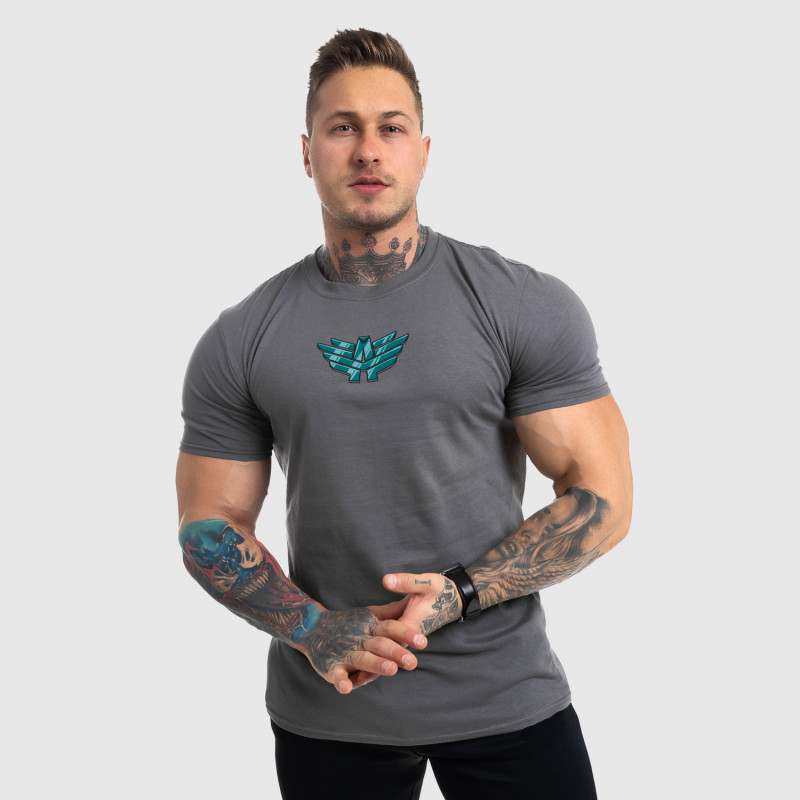 Ultrasoft tričko Iron Aesthetics FIST, sivé-2