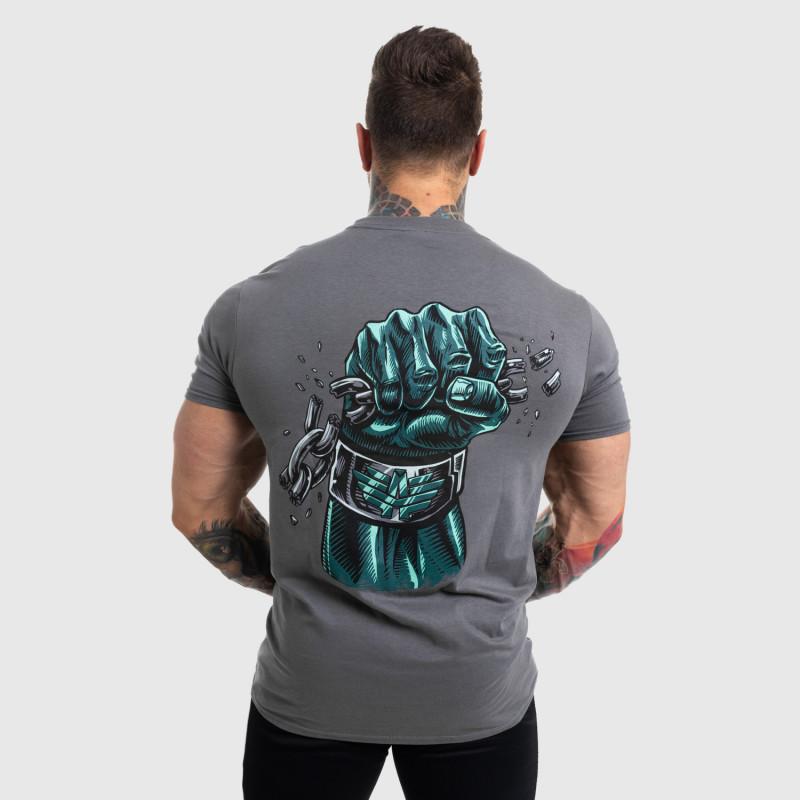 Ultrasoft tričko Iron Aesthetics FIST, sivé-4