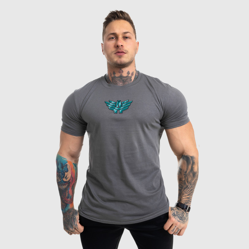 Ultrasoft tričko Iron Aesthetics FIST, sivé-6