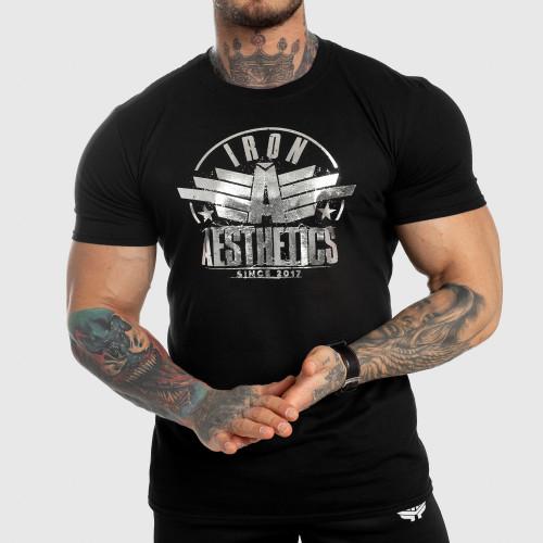 Pánske fitness tričko Iron Aesthetics Force, silver