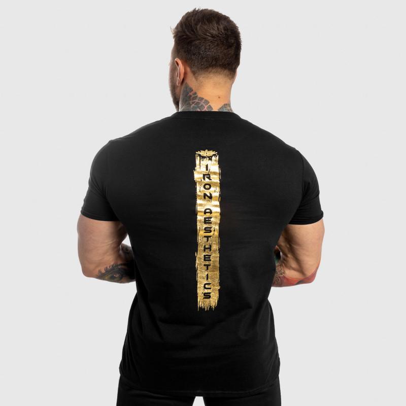 Pánske fitness tričko Iron Aesthetics Force, black&gold-2