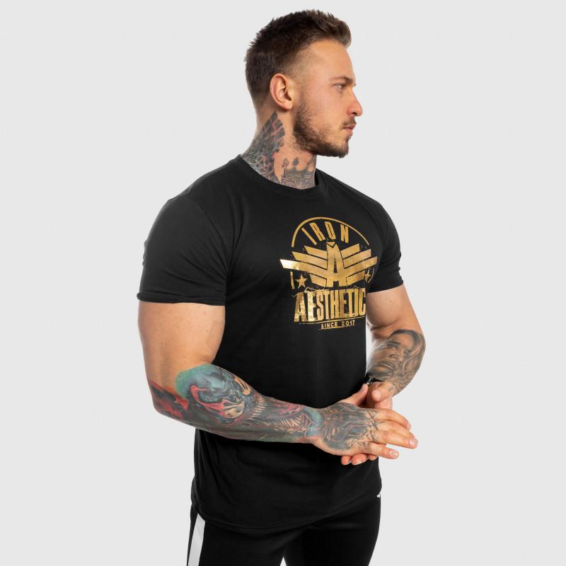 Pánske fitness tričko Iron Aesthetics Force, black&gold-6