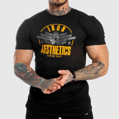 Pánske fitness tričko Iron Aesthetics Force, čierne