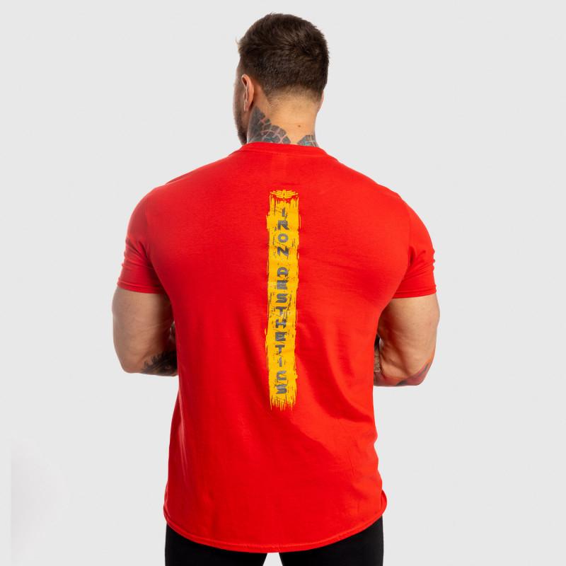 Pánske fitness tričko Iron Aesthetics Force, červené-2