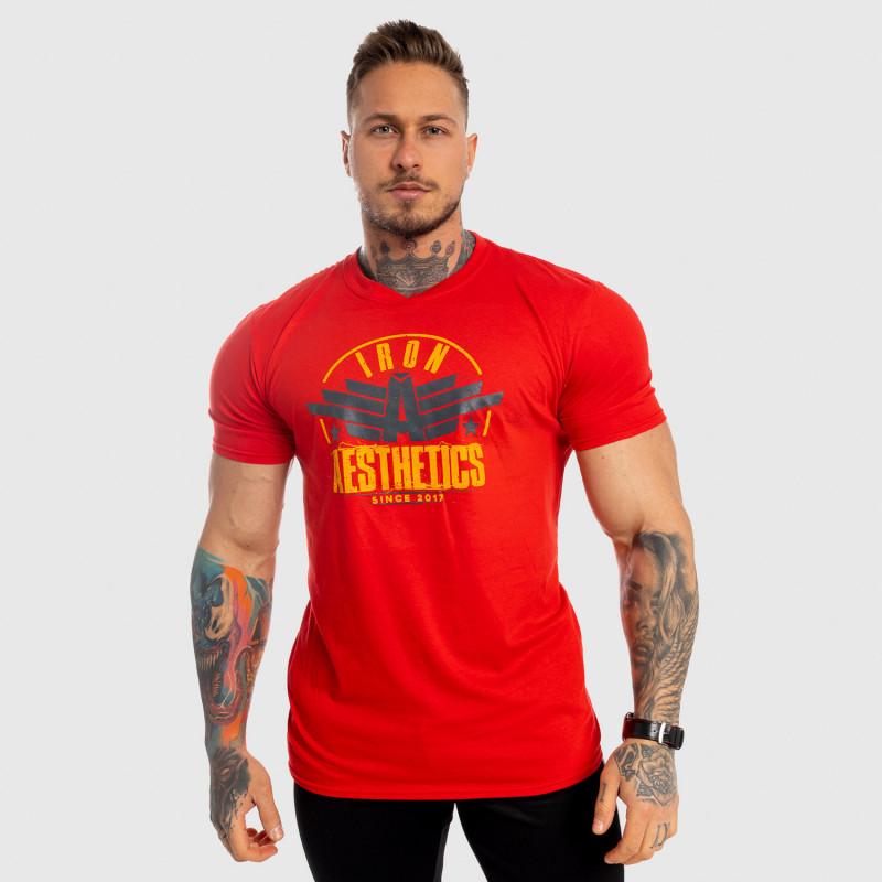 Pánske fitness tričko Iron Aesthetics Force, červené-3