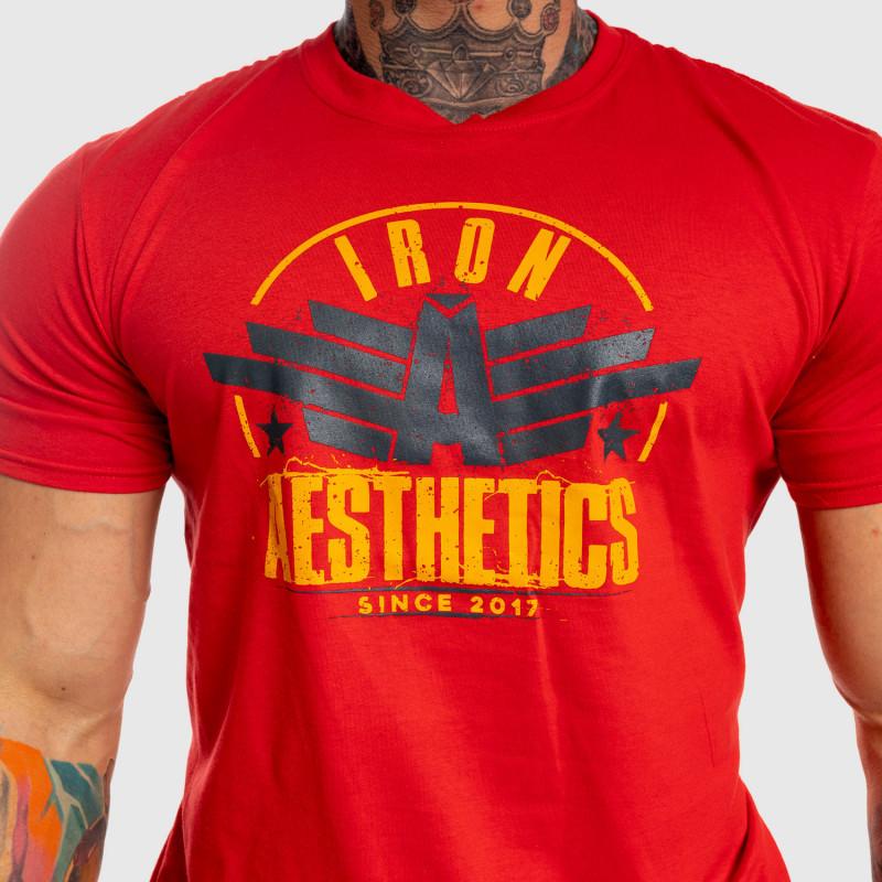 Pánske fitness tričko Iron Aesthetics Force, červené-4