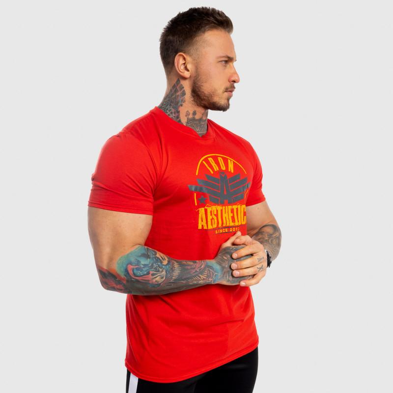 Pánske fitness tričko Iron Aesthetics Force, červené-6